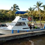 "Their new dive boat ""Ibis"" is a beauty!"