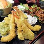 More salad, Gyoza, Terayaki Chicken & Tempura... another part of our combo meal