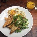 Brunch - Eggs Benedict and Chicken Meat Pie