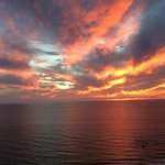 One of many stunningg sunsets from our balcony