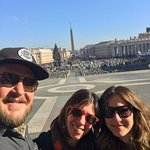 here we are at the vatican with our tour guide, Michela.