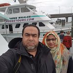 I and my wife in the boat