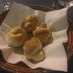 The garlic knots were hot and delicious!