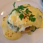 egg Florentine with gorgeous spinach
