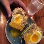 Soft boiled egg in muffin - beautiful!