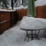 Patio snow play ground cottage 1.