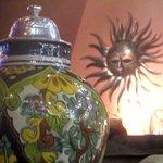 Decor (large Urns, Sun Decorations), Mexicali Grill, Santa Clara, CA