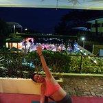 Yoga on the patio outside room.
