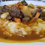 wild boar with mashed potatoes