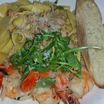 pappardelle with plenty of lobster