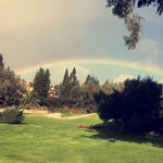 Rainbow at the golf course! SO beautiful here!