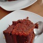 Tarta de chocolate y tarta de zanahoria con queso