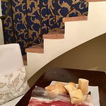 A table made sampling prosciutto di Parma from the local salumeria even more enjoyable
