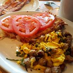 italian scramble with bacon on the side