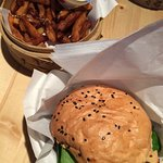 Bulgogi burger and their homemade fries