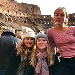 Isobel, Imogen and Xanthe at Colosseum