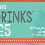 Tuesdays are 2 drinks for £5!! Starting soon- open mic night too!!