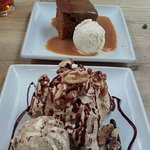 Sticky toffee pud & Coffee Eton Mess