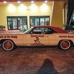 Jimmy Hart's Cadillac at the entrance.