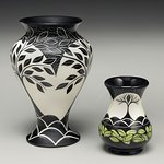 Hand-painted pottery by Marti Mochabee