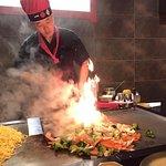 At the Hibachi grill
