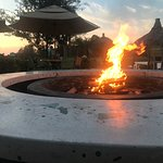 campfire by the pool bar