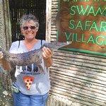 Me holding a croc