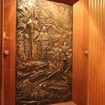 One of the silver panels made by Albert Gilles