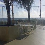 Rooftop Ocean View Outdoor Dining. Dining Room has unobstructed view of Atlantic ocean