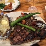 Very good steak for the price. I comes with a salad and baked potatoe.