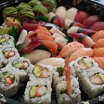 Just one of our many delicious and nutritious sushi platters