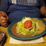 Husband's meal--steak burrito