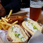 Get the dungeness crab sandwich when in season.  Very delicious.