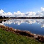 Shustoke Reservoir just across from the Plough Inn