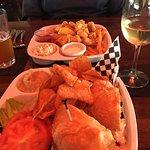 Shrimp Croissant & Grouper Bites at Brett's, Fernandina Beach