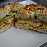 Tasty breakfast sandwich