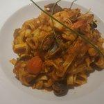 tagliatelli with sea food