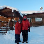 Donna & John Phillips, January 2017, Aurora Lodge in Bettles at -60o.