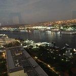 View from top floor restaurant