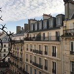 A room with a view over the roofs of Paris