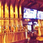 Extensive beer menu on tap