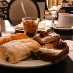 Pastries and Sparkling Wine in the Breakfast