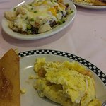 Seafood Omelette and Potatoes Ariel