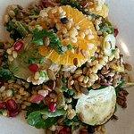 Orange, grain and pomegranate salad
