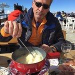 Lunch with Swiss Cheese Fondue in Mzaar, Lebanon
