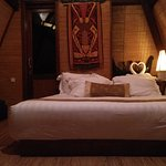 Traditional Lumbung Hut with Honeymoon Decor