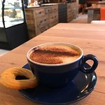 Great cappuccino in a beautiful space
