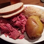 corned beef & cabbage, Katie O'Donald's, Bluffton, SC, Jan 2017