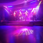 Jersey Boys (tribute act) on stage in the Entertainment/Dining area