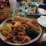 Fabulous calamari washed down with draught 'pivo'